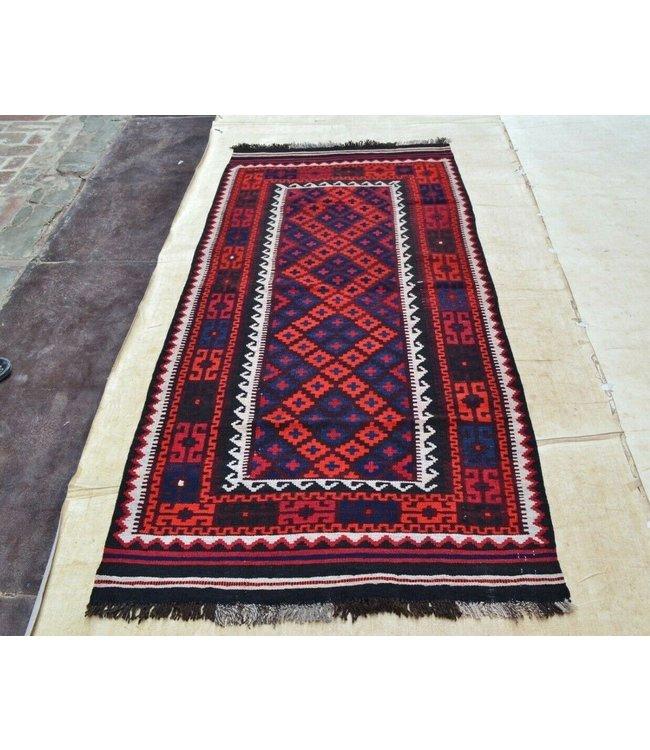 kelim 216 x 98 cm vloerkleed tapijt kelims hand geweven