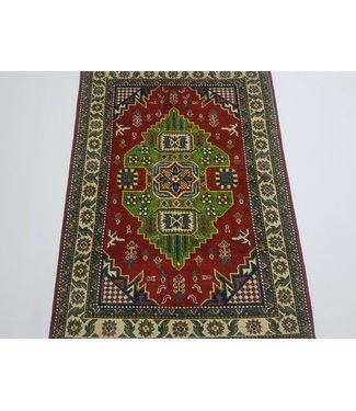 (4'9 x 3'4 ) feet Hand knotted wool kazak area rug 145 x 103 cm