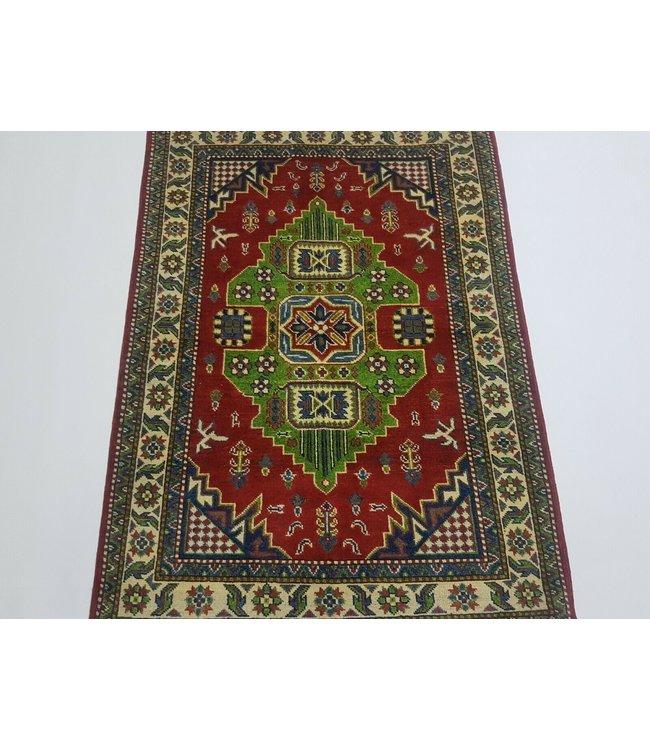 Handgeknoopt kazak tapijt 145 x 103 cm vloerkleed tapijt