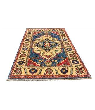 (4'10 x 2'11) feet Hand knotted  wool kazak area rug  149 x 91 cm