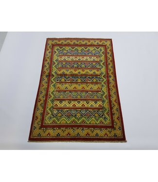(4'10 x 3'2) feet Hand knotted wool kazak area rug 148 x 99 cm