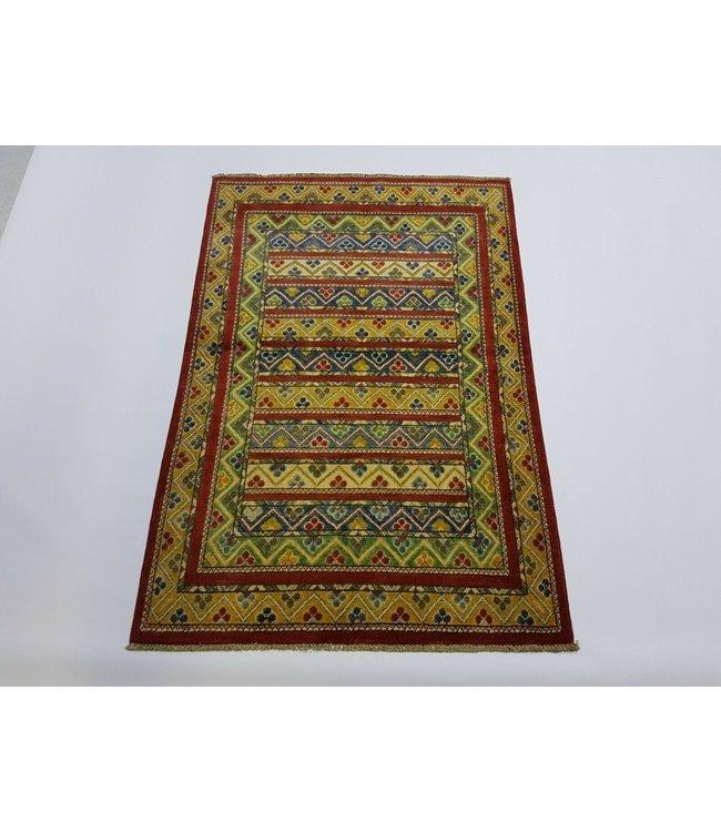 Handgeknoopt kazak tapijt 148 x 99 cm vloerkleed tapijt