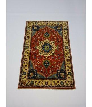 (4'9 x 3'2) feet Hand knotted wool kazak area rug 146 x 97 cm