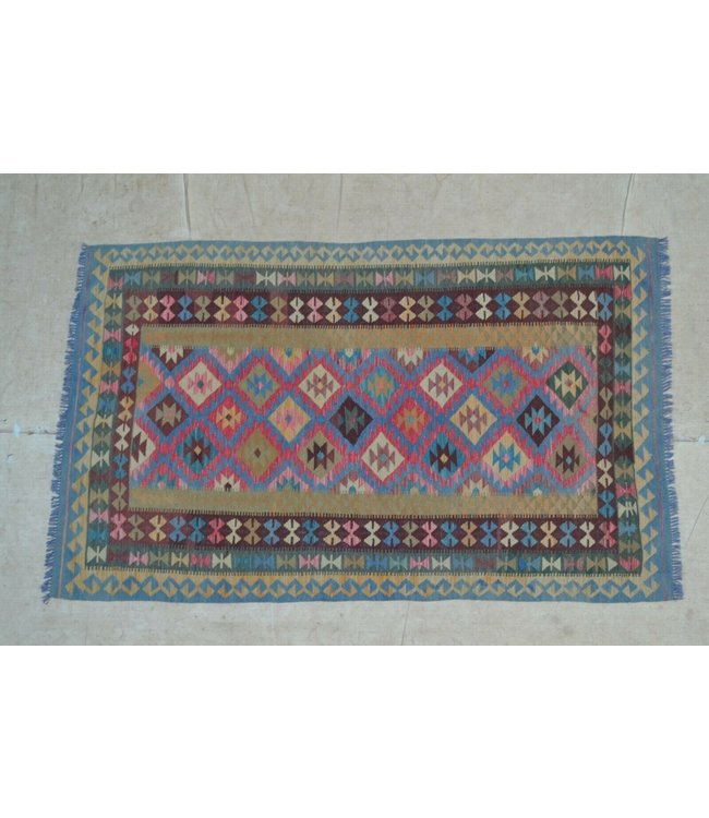 kelim  246 x 150 cm vloerkleed tapijt kelims hand geweven