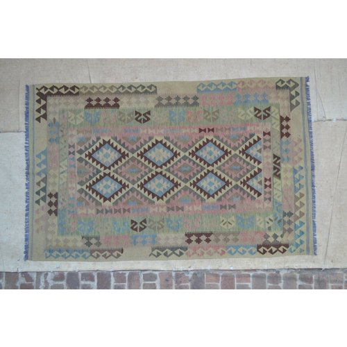 kelim 280 x 159 cm vloerkleed tapijt kelims hand geweven
