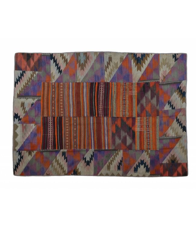 kelim patchwork tapijt 232x175 cm
