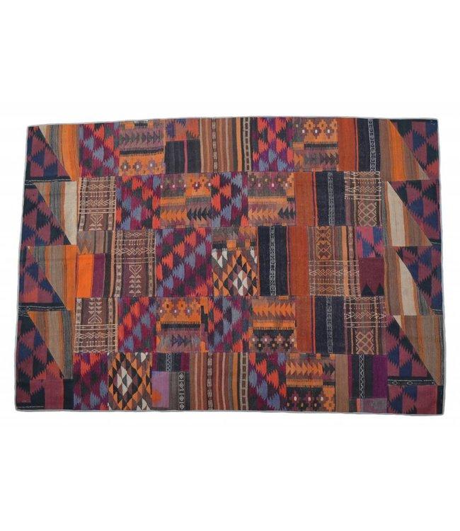 kelim patchwork tapijt 293x206 cm