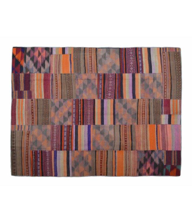 kelim patchwork tapijt 264x199 cm