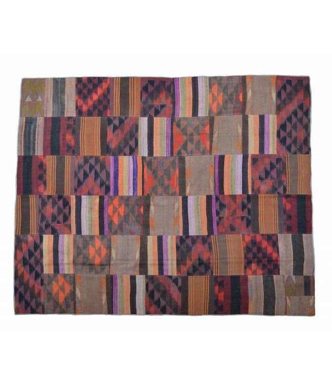 kelim patchwork tapijt 299x245 cm