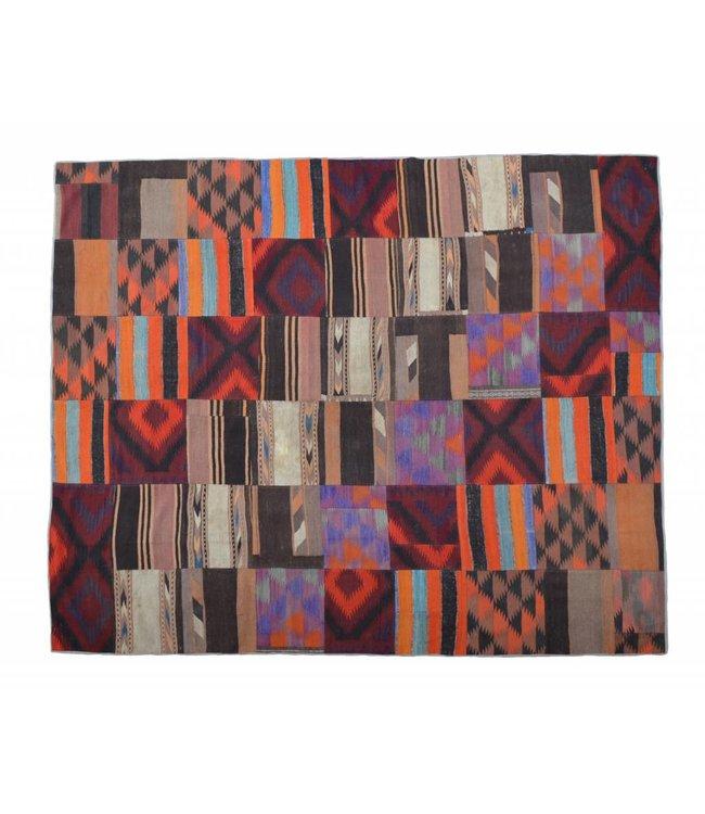 kelim patchwork tapijt 305x252 cm