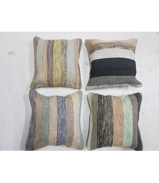 4x kilim cushion modern stripe  50x50 cm