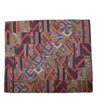 kelim patchwork tapijt 305x257 cm