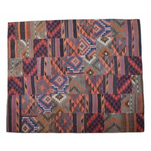 Patchwork Kelim teppich 305x257 cm