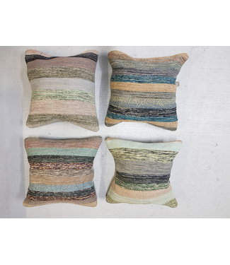 4 x kilim cushion cover 45x45 cm with filling