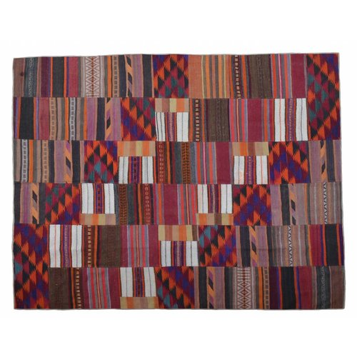 Patchwork Kelim teppich 307x258 cm