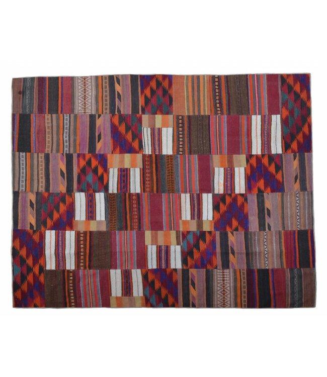 kelim patchwork tapijt 307x258 cm