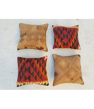 vintage 4 x kilim cushion cover ca 40x40 cm with filling