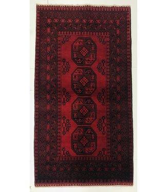 6'3x3'4 feet  Afghan rug aqcha hand knotted  195x106 cm