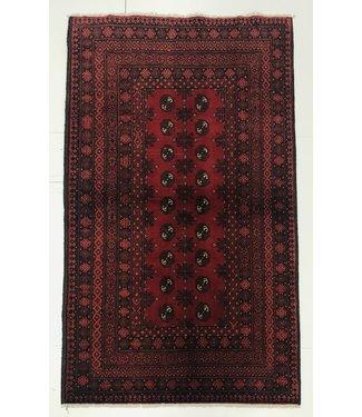 6'1x3'5 feet  Afghan rug aqcha hand knotted  188x109cm