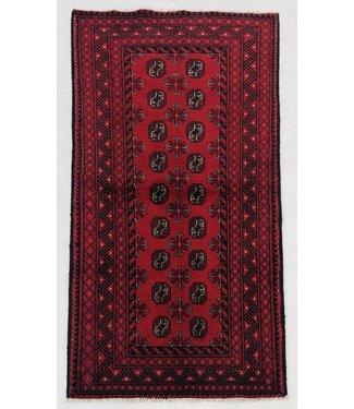 6'2x3'1 feet  Afghan rug aqcha hand knotted  192x97cm