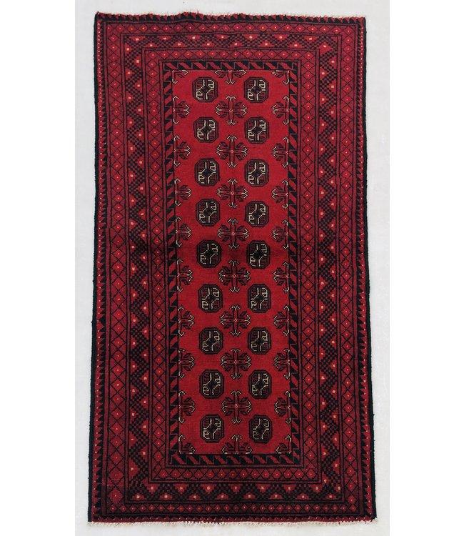 Afghan aqcha tapijt hand geknoopt 192x97 cm