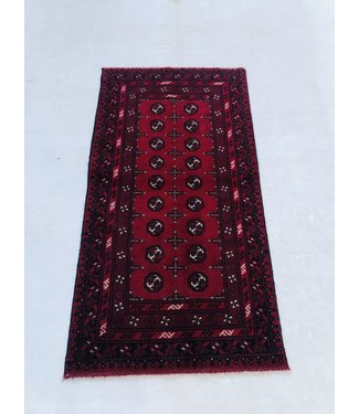 6'2x3'2 feet  Afghan rug aqcha hand knotted  192x100cm