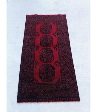 6'6x3'3 feet  Afghan rug aqcha hand knotted 202x102cm