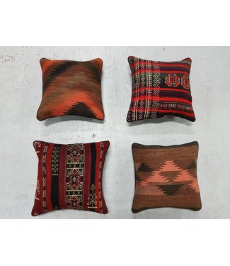vintage 4 x kilim cushion cover ca 40x40cm with filling