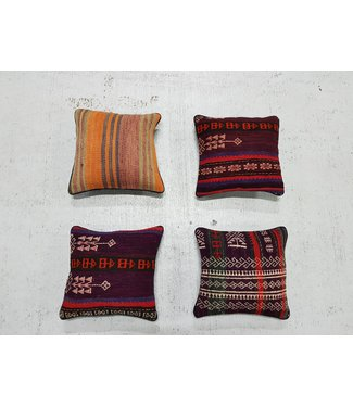 vintage 4 x kilim cushion cover ca 32x32 cm with filling