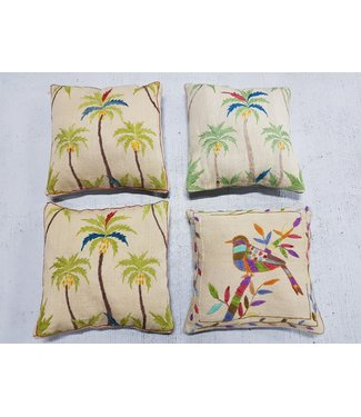 vintage 4 x kilim cushion cover ca 50x50 cm with filling