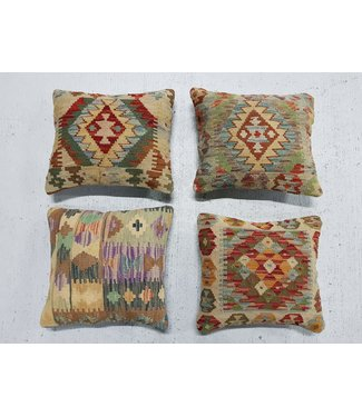 vintage 4 x kilim cushion cover ca 45x40 cm with filling