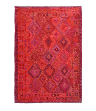 kelim rug  Oriental  9'54 x 6'5 hand woven kilim rug wool  carpet
