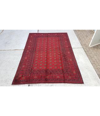 6'6x3'3 feet  Afghan rug aqcha hand knotted  9.58 x 6.43 feet or 292x196 cm