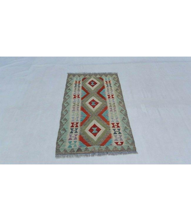 Hand Woven Ghazny Wool Kelim Afghan Rug 127x79 cm Multi color Rug Wool 4'1x2'5 ft