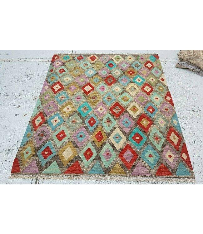 kelim kleed 194x153 cm vloerkleed tapijt kelims hand geweven