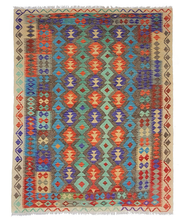 kelim 247 x 181 cm vloerkleed tapijt kelims hand geweven