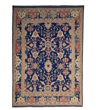 Oriental Handmade Blue 12'82X9'71 Sumak Kilim Area Rug wool 391X296 cm
