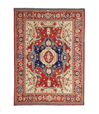 11'12X8'72 Antique Handmade Red Sumak Kilim Area Rug Hand woven 339X266 cm