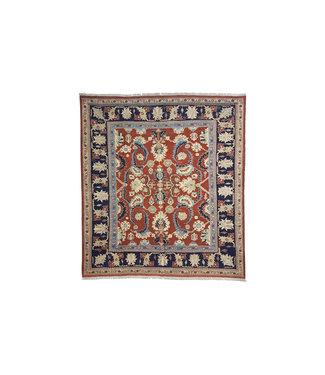 Quality Handmade 8'2x7'7 Red Sumak Kilim Area Rug Weave 250x236 cm