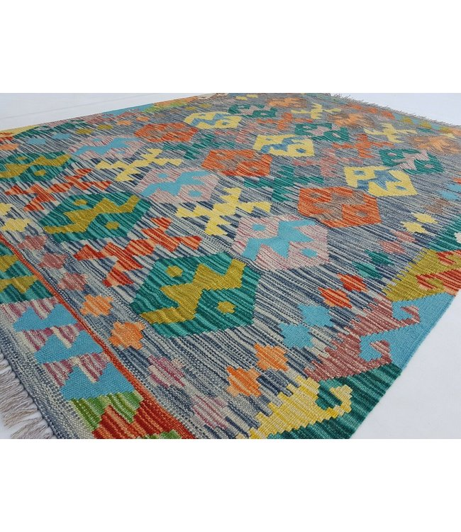 kelim kleed 197x151 cm vloerkleed tapijt kelims hand geweven