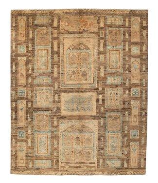 Oushak Hand knotted 9'7x8'1 ziegler rug  farahan Wool Rug 297x247 cm