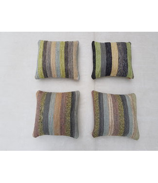 4x modern unique Kilim Cushion ca 50x50 cm