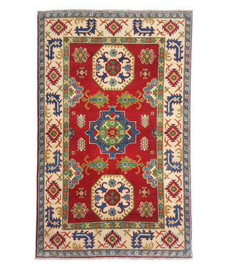 Handgeknüpft wolle kazak teppich  187x118 cm   Orientalisch teppichboden