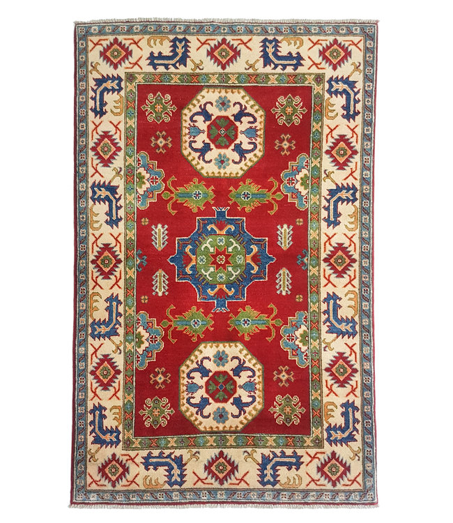 Handgeknoopt kazak tapijt 187x118 cm  oosters kleed vloerkleed