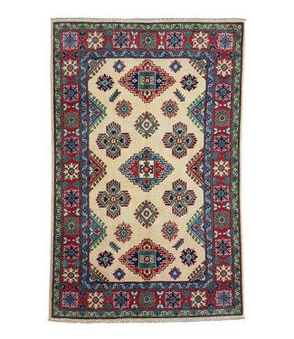 Hand knotted  6'1x4'0 wool kazak area rug  187x122 cm  Oriental carpet