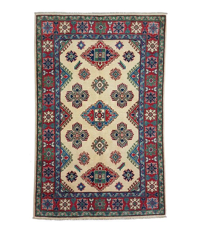 Handgeknoopt kazak tapijt 187x122 cm  oosters kleed vloerkleed