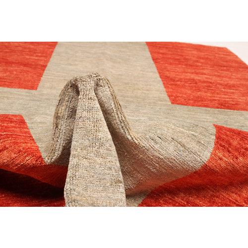 Handgeknüpft Modern Art 252x174 cm Abstrakt Wolle Teppich