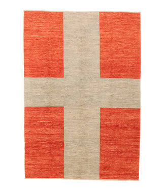 Hand knotted 8'2x5'7 Modern  Art  Wool Rug 252x174 cm  Abstract Carpet