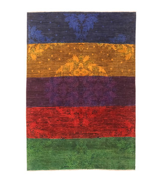 Hand knotted 7'8x5'3 Modern  Art  Wool Rug 240x164 cm  Abstract Carpet