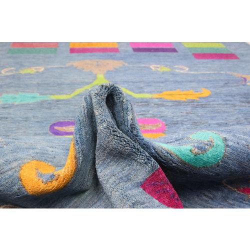 Handgeknüpft Modern Art 231x165 cm Abstrakt Wolle Teppich